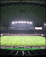 The Sapporo Dome was one of the most impressive stadiums in the 2002 World Cup