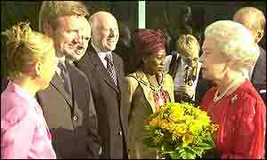 The Queen meets Jayne Torvill and Christopher Dean