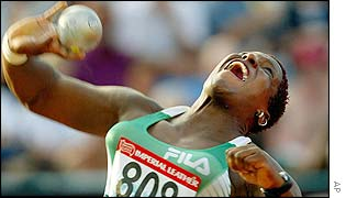 Vivian Chukwuemeka won with a mark of 17.53 metres