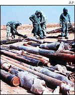 Iraqi rockets filled with sarin, destroyed after the Gulf War