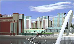 Artist's impression of the Baltic Quays development