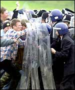A reconstruction of the Battle of Orgreave for a recent film
