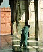 Cleaner at Badshahi Mosque