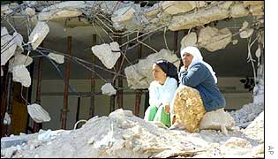 Palestinian women in Jenin