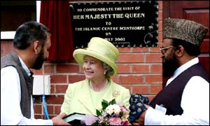 The Queen visits the Islamic Centre in Scunthorpe, North Lincolnshire