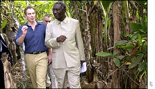 Tony Blair visits the Ivory Coast