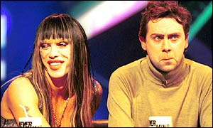 Pete Burns and Sean Hughes