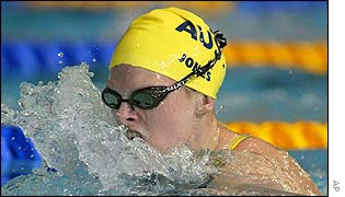 Australia's Leisel Jones led right from the start