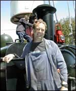 Steam train driver Peter Roach