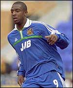 Nathan Ellington in pre-season action for Wigan