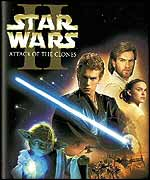 Star Wars Attack Of The Clones DVD sleeve