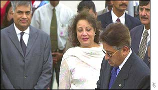 Musharraf and Sri Lankan PM