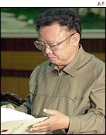 North Korea's leader Kim Jong-il