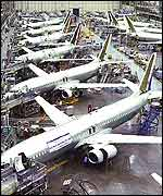 Boeing aircraft factory