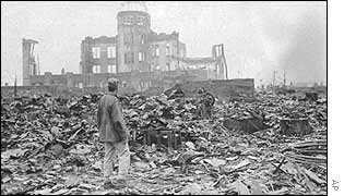 A correspondent examines the aftermath in Hiroshima in 1945