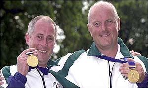 Martin Millar and David Calvert got Northern Ireland's first gold of the Games
