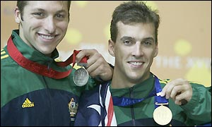 Ian Thorpe and Matt Welsh take the top two medals for Australia