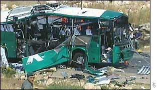 Wreck of bus
