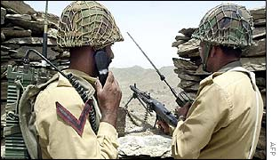 Pakistan soldiers man outpost near June gunfight