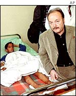 George Galloway in Baghdad, 2001