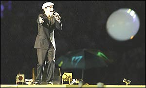 Will Young sings at the closing ceremony