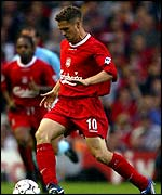 Liverpool striker Michael Owen