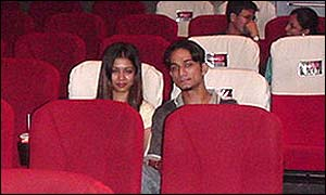 A couple taking advantage of a 'Close Up' cinema ticket