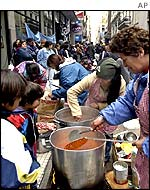 Argentine soup kitchen