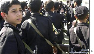 Iraqi boys neing given military training