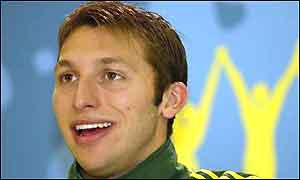 Australian swimmer Ian Thorpe, winner of six commonwealth gold medals