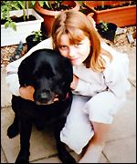 Jessica Chapman and her dog Toby