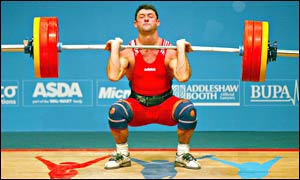 Welsh weightlifter Dave Morgan