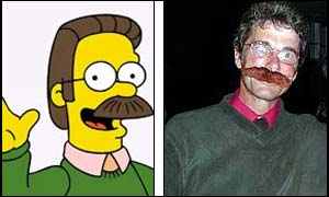 Ned Flanders and lookalike