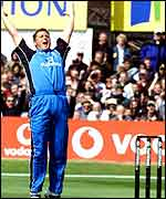 Darren Gough at Headingley, PA