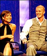 David and Victoria Beckham on Parkinson
