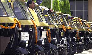 Auto-rickshaws in Delhi, India