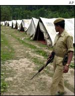 Indian soldier at the camp