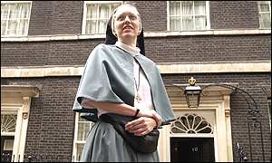 Sister Annaliese, Anglican Community of the Sisters of the Church, in Downing Street