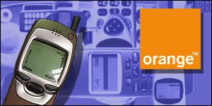 Orange phone and logo