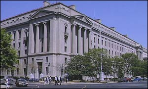 Department of Justice building in Washington