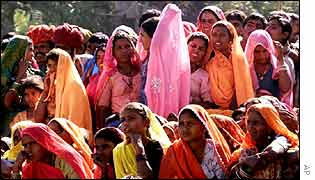 A gathering of Rajasthan women