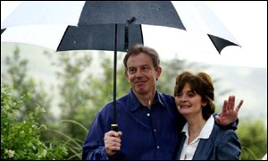 Cherie and Tony Blair pictured last week