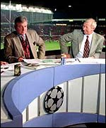 Terry Venables and Bob Wilson