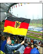 German athletics supporters
