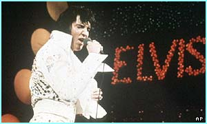 Elvis performing shortly before his death in 1977