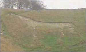 The Cherhill White Horse in Wiltshire