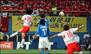 Ahn Jung-Hwan's golden goal against Italy started the feud with Perugia
