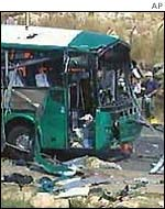 Bus bombed by Palestinian militants