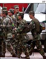 Soldiers in Bogota