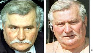 Lech Walesa (before and after)